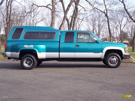 bright teal metallic 1994 chevrolet c k 3500 extended cab