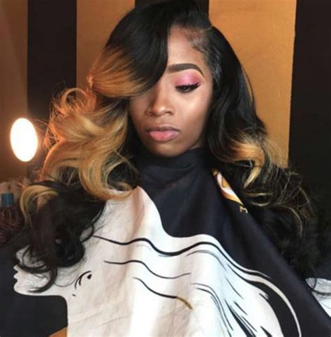 side part curly ombre sewin weave styles hair hair