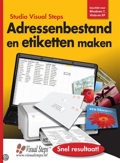 Etiketten Uit Excel Naar Word by Adressenbestand En Etiketten Maken Gratis Boeken