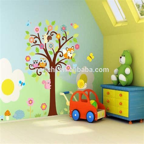 Wall Sticker For Baby Room hibou fleur arbre papillon de bande dessin 233 e sticker
