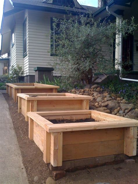 images  wooden planter boxes  pinterest