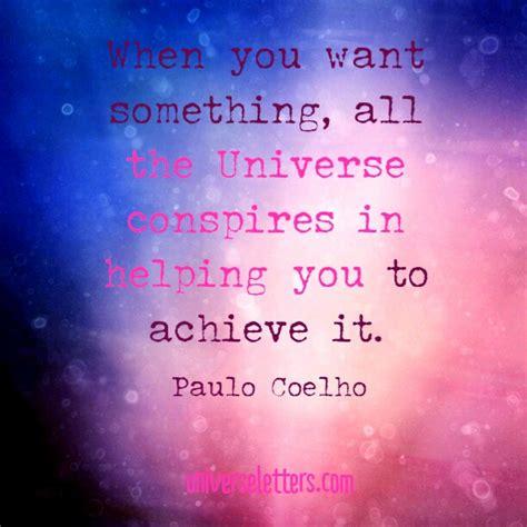 Universe Conspires universe conspires