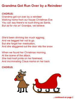To Grandmother S House We Go Lyrics by Got Run By A Reindeer Lyrics