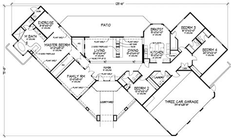 adobe floor plans fordington luxury adobe home plan 072d 0820 house plans
