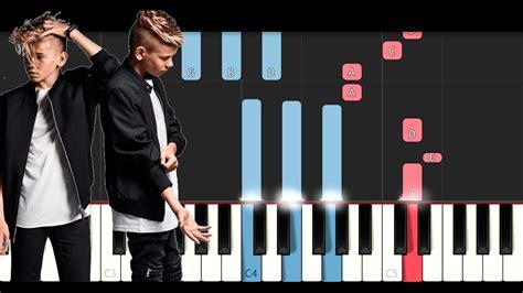 tutorial piano next to me marcus martinus next to me piano tutorial youtube