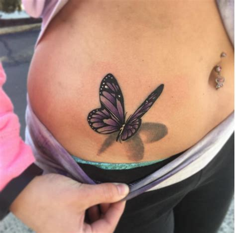 butterfly tattoo girly 3d butterfly tattoo on stomach ink youqueen girly