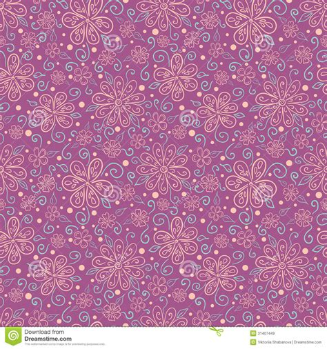 Decorated Paper Designs seamless floral pattern with stylized flowers stock vector image 31407449