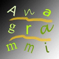 anagramma di lettere gli anagrammi dei giochi linguistici comunicazione