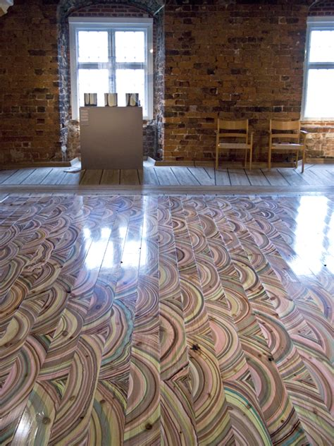 Wood Flooring For Studio by Wow Vividly Colored Wood Flooring Is Made By
