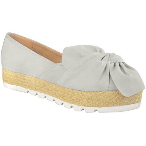 espadrilles shoes flats womens slip on espadrilles flats bow sneakers pumps