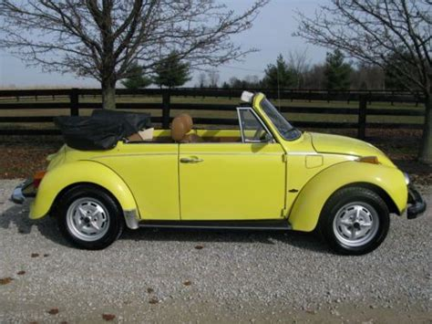 volkswagen lemon purchase used 1979 vw beetle cabriolet in lemon