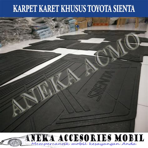 Karpet Karet Mobil Sienta jual karpet karet karpet lantai floor mat mobil toyota