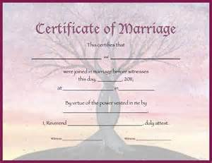 Marriage Certificate Templates Free The Unique Wedding Officiate