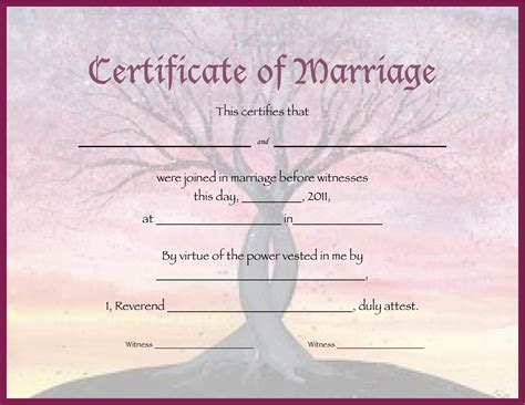 wedding certificate templates free printable 10 best images of customized marriage certificate blank