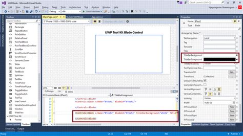xaml page layout bladecontrol in uwp with xaml and c