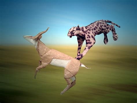 Origami Cheetah - origami safari 26 beautiful animals made out of paper