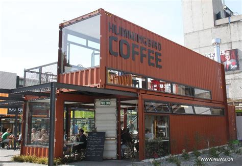 Shopping mall built with shipping containers appears in Christchurch   China.org.cn