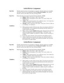 Article Review Template by Best Photos Of Apa Style Article Summary Exle Apa