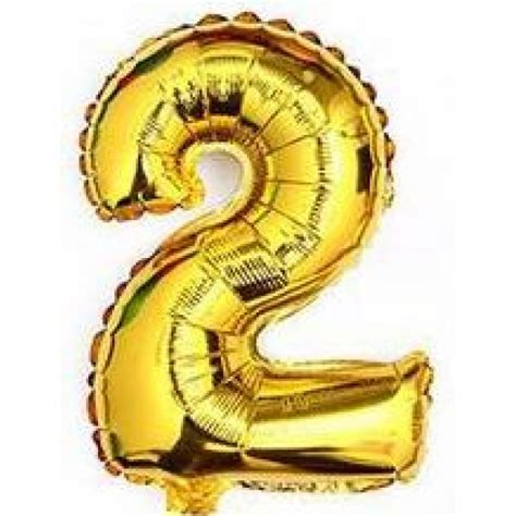 Number Foil Balloon 40 inch number 2 gold from category numbers balloons