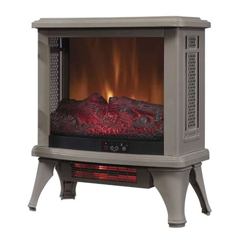 Duraflame Fireplace Heater Reviews by Duraflame Infrared Quartz Stove Heater Gray Dfi