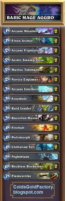 beginner deck hearthstone starter mage deck basic cards only mage deck