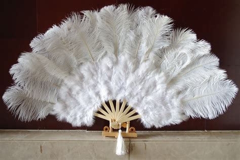 large feather fans white marabou fan large feather fan burlesque fan 21 quot x 38 quot