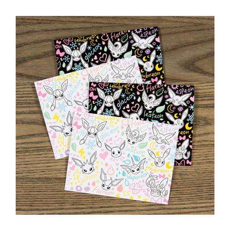 doodle stationery eevee doodles note cards notecard set eevee doodle