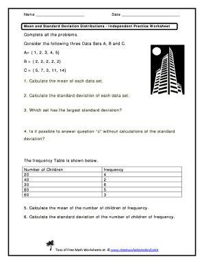 Standard Deviation Worksheet by All Worksheets 187 Absolute Deviation Worksheets