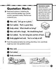 free printable worksheets quotation marks 17 best images about grammar quotations on pinterest