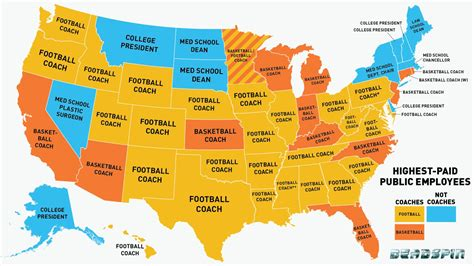 how many couches are there in america infographic is your state s highest paid employee a coach