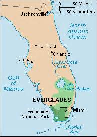 florida everglades map location the everglades howstuffworks