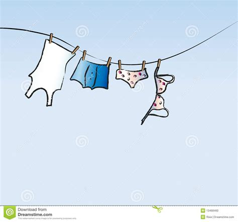 His And Hers Laundry Hers His And Hers Washing Line Stock Photo Image 13468460