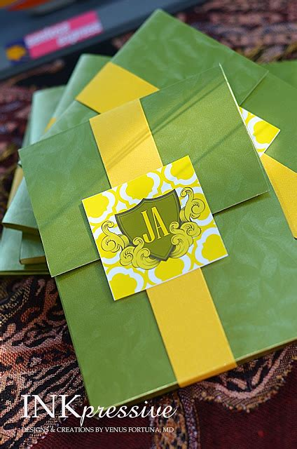 Peridot Wedding Invitation Paper by Passport Wedding Invitation Green And Yellow