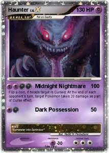pok 233 mon haunter 230 230 midnight nightmare my pokemon card