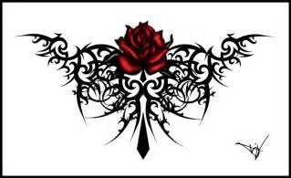 tribal rose tattoo design 2015