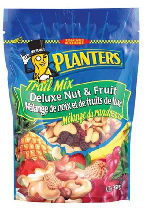 planters trail mix fruit and nut planters deluxe nut fruit trail mix walmart ca