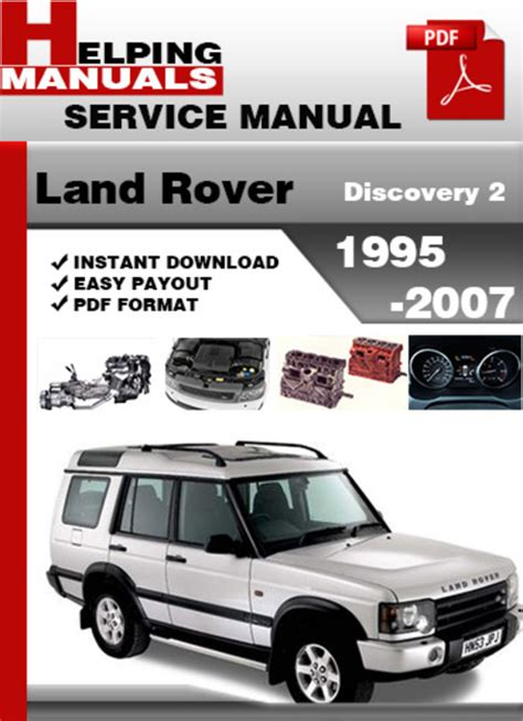 car repair manuals download 2001 land rover discovery spare parts catalogs land rover discovery 2 1995 2007 service repair manual download d