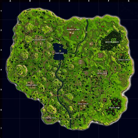 fortnite battle royales  map  overview  review