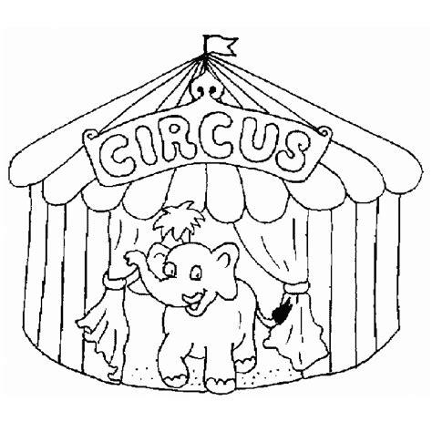 Coloriage Cirque Chapiteau A Imprimer Gratuit