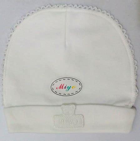 Topi Newborn Miyo White jual topi newborn miyo bulat putih newborn babyshop