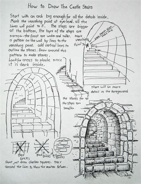 book layout reference comic art reference drawing castle stairs