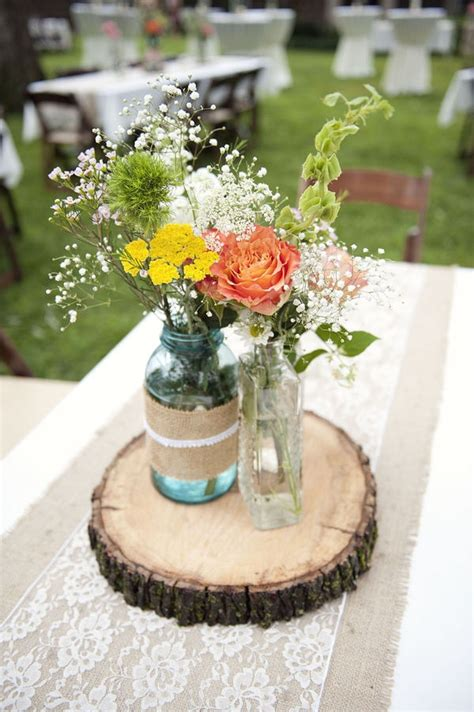 wedding table decoration ideas with jars memorable wedding rustic wedding decorations