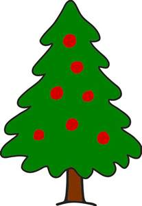 clipart simple christmas tree