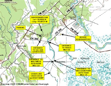texas national wildlife refuges map san bernard wildlife refuge near sargent texas fishsargent
