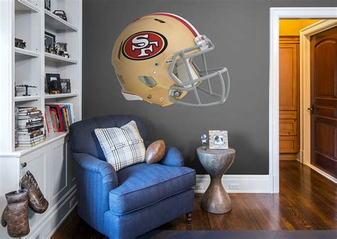 san francisco 49ers home decor san francisco 49ers helmet wall decal shop fathead 174 for