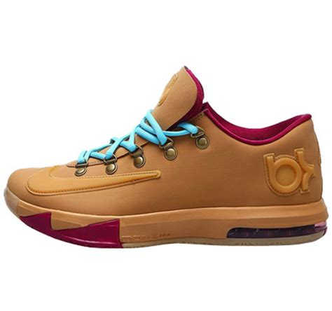 durant shoes nike kd6 kevin durant brown basketball shoes lebron 00144