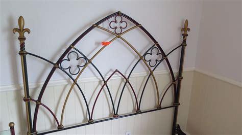 bedframe metal framework painted w fleur de