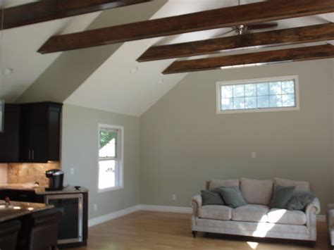 vaulted ceiling with exposed beams vaulted ceiling exposed beams