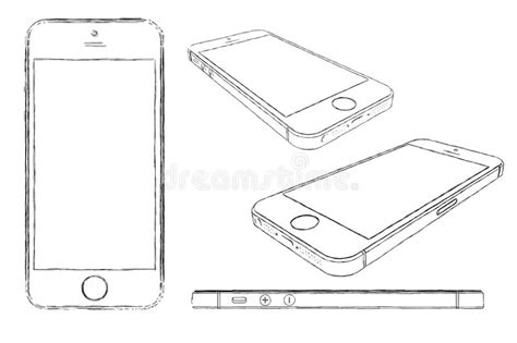doodle draw iphone iphone 5s sketched drawing editorial image illustration