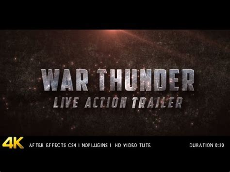 War Thunder Live Action Trailer After Effects Project Videohive Template Youtube Trailer Template After Effects Project